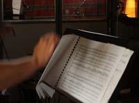 Scores & hand conducting