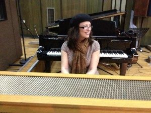 Sarah in FAMES Orchestra Studio, Macedonia